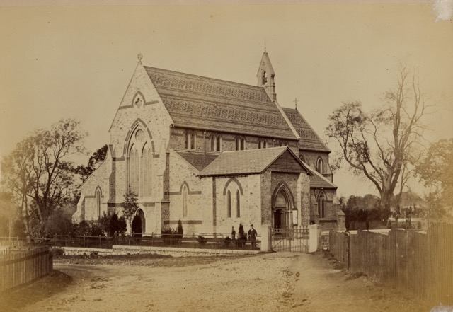 Church about 1864 before spire