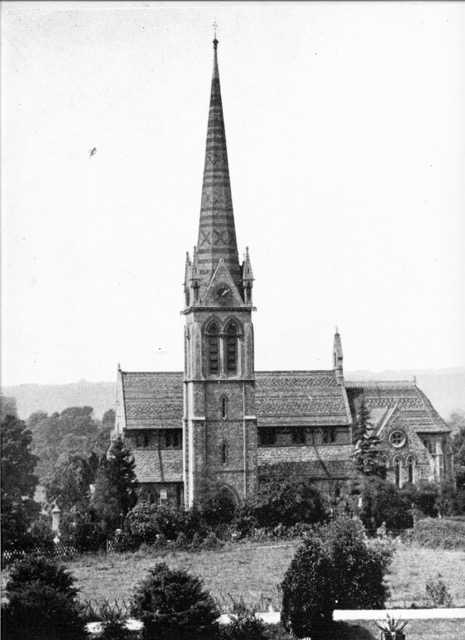 Church around 1880 from photo